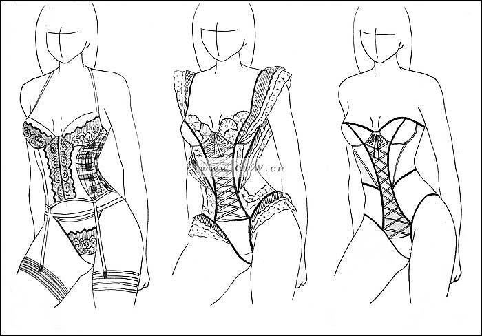 内衣秀作品-内衣秀款式图