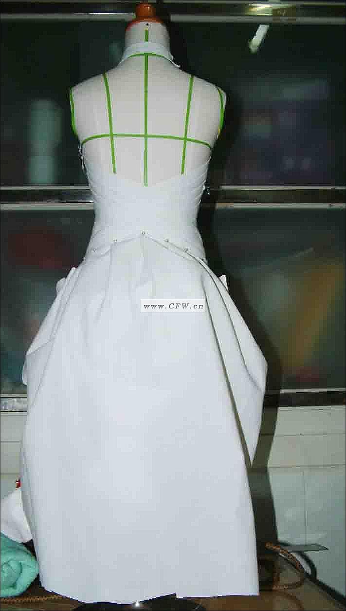 立体裁剪习作2-婚纱礼服设计-服装设计