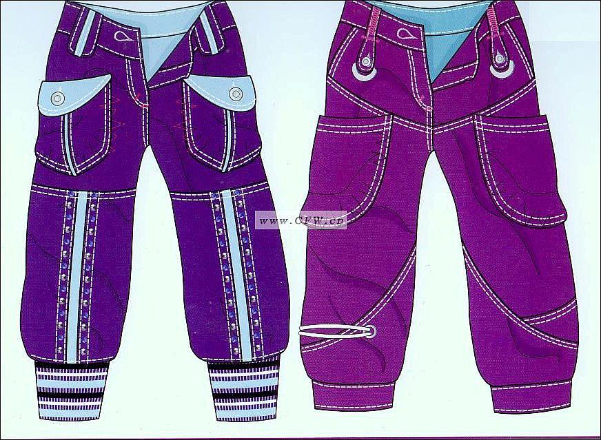 裤子-女装设计-服装设计