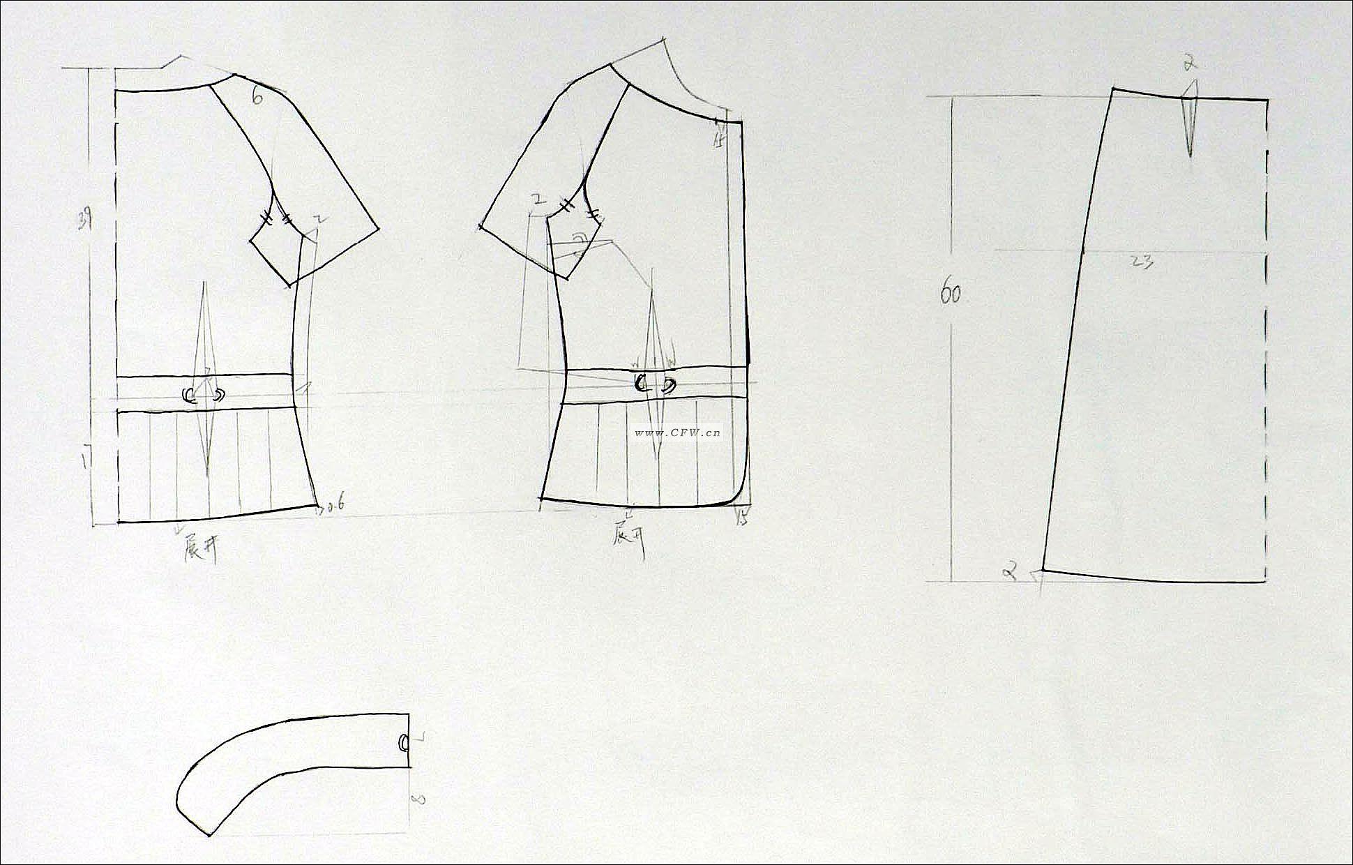 成衣结构图