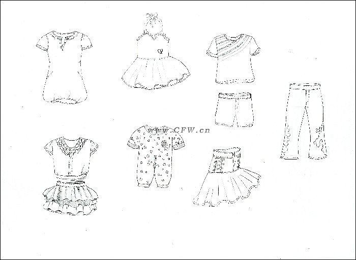 童装款式图