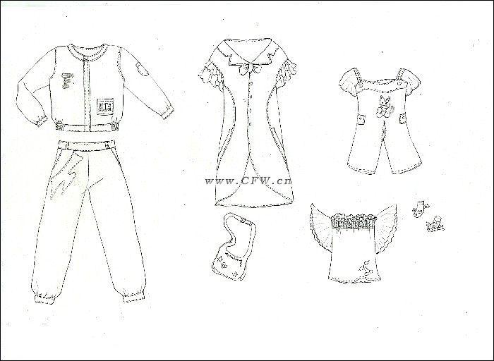 童装款式设计图