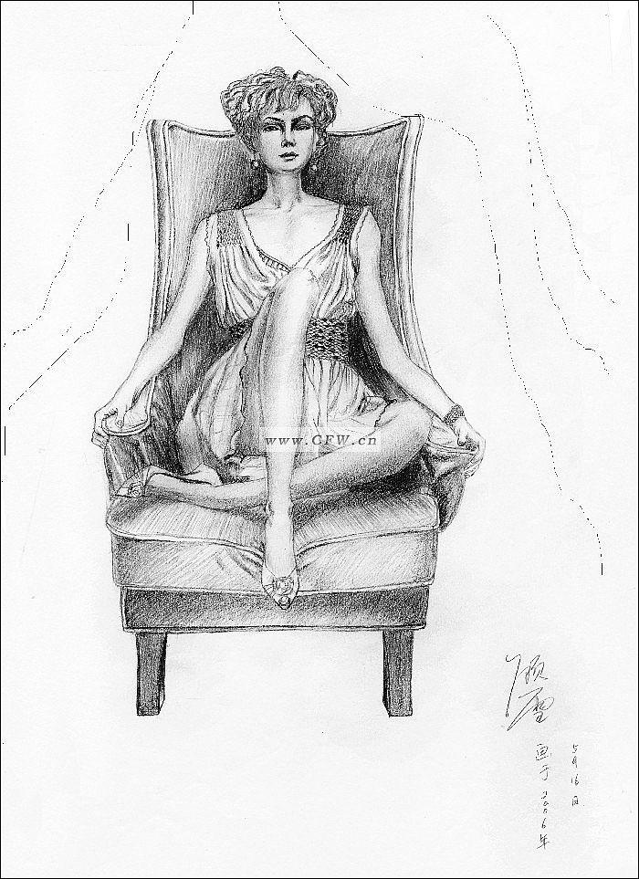 素描服装画-女装设计-服装设计-服装设计网手机版|触