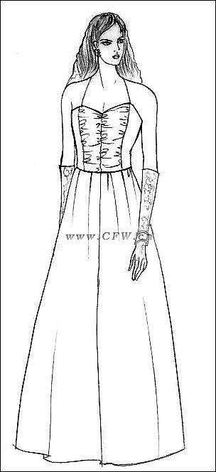 吊带连衣裙-女装设计-服装设计
