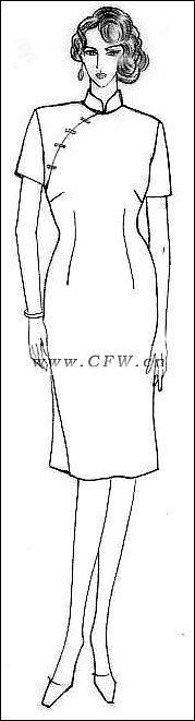 旗袍作品-旗袍款式图