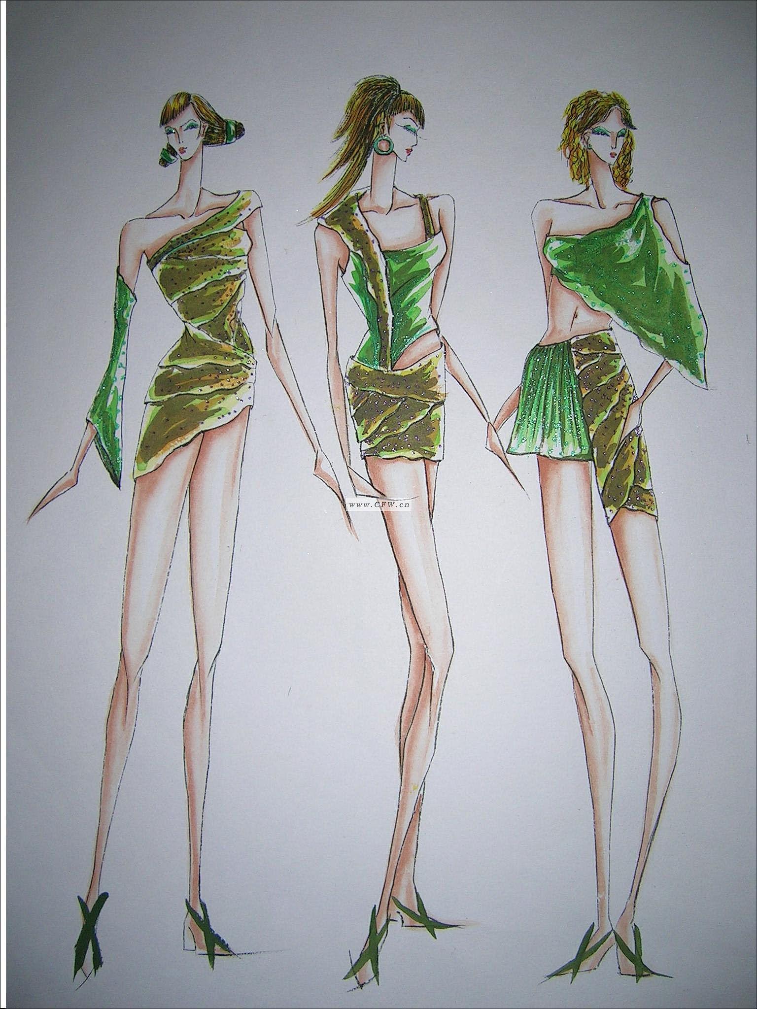 钢笔点画-图案设计设计-服装设计-服装设计网手机版