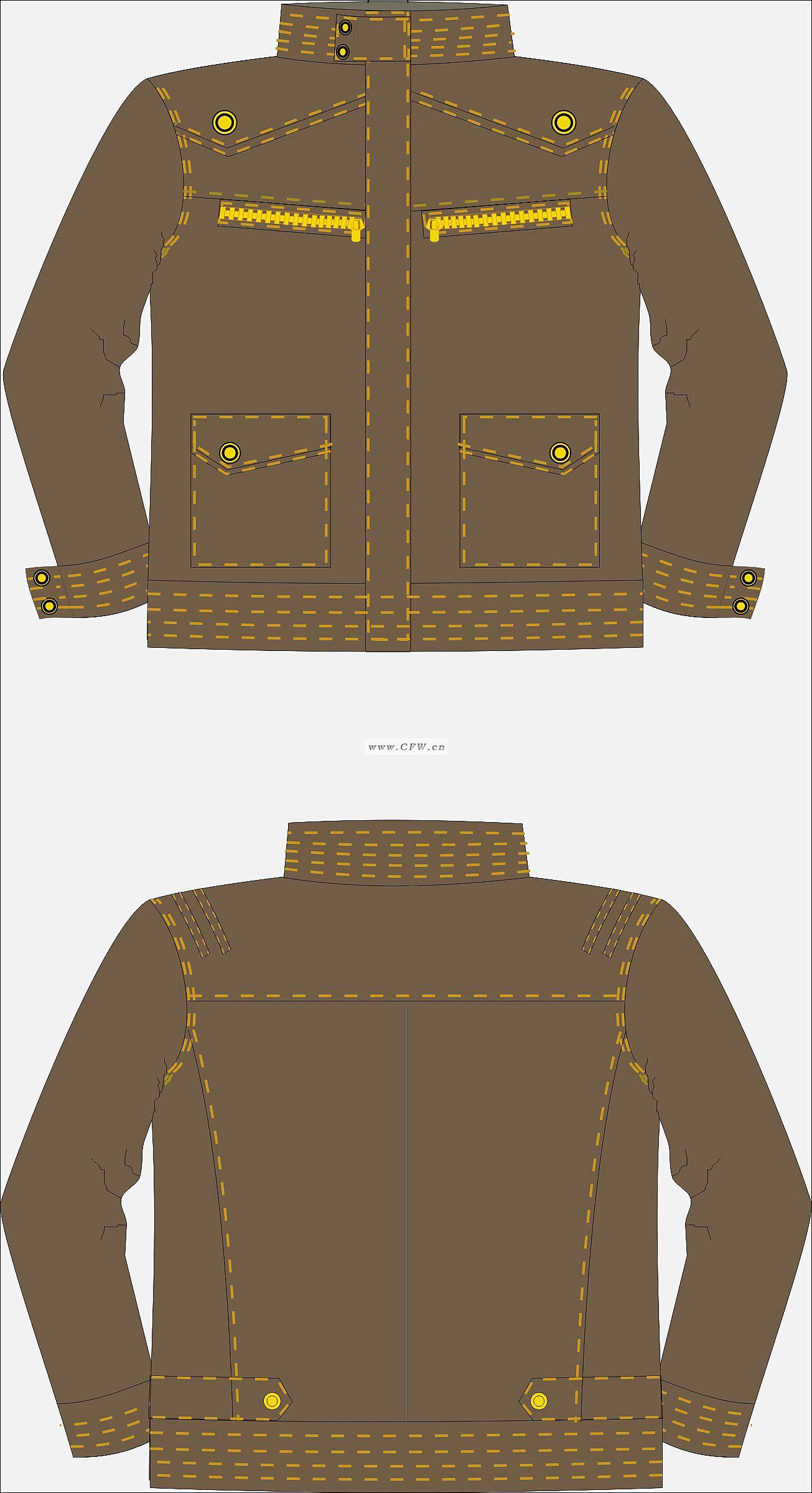 男士夹克设计图-夹克衫设计-服装设计
