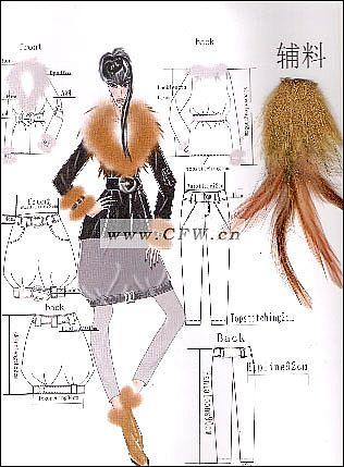 电脑裘皮系列设计2-女装设计-服装设计