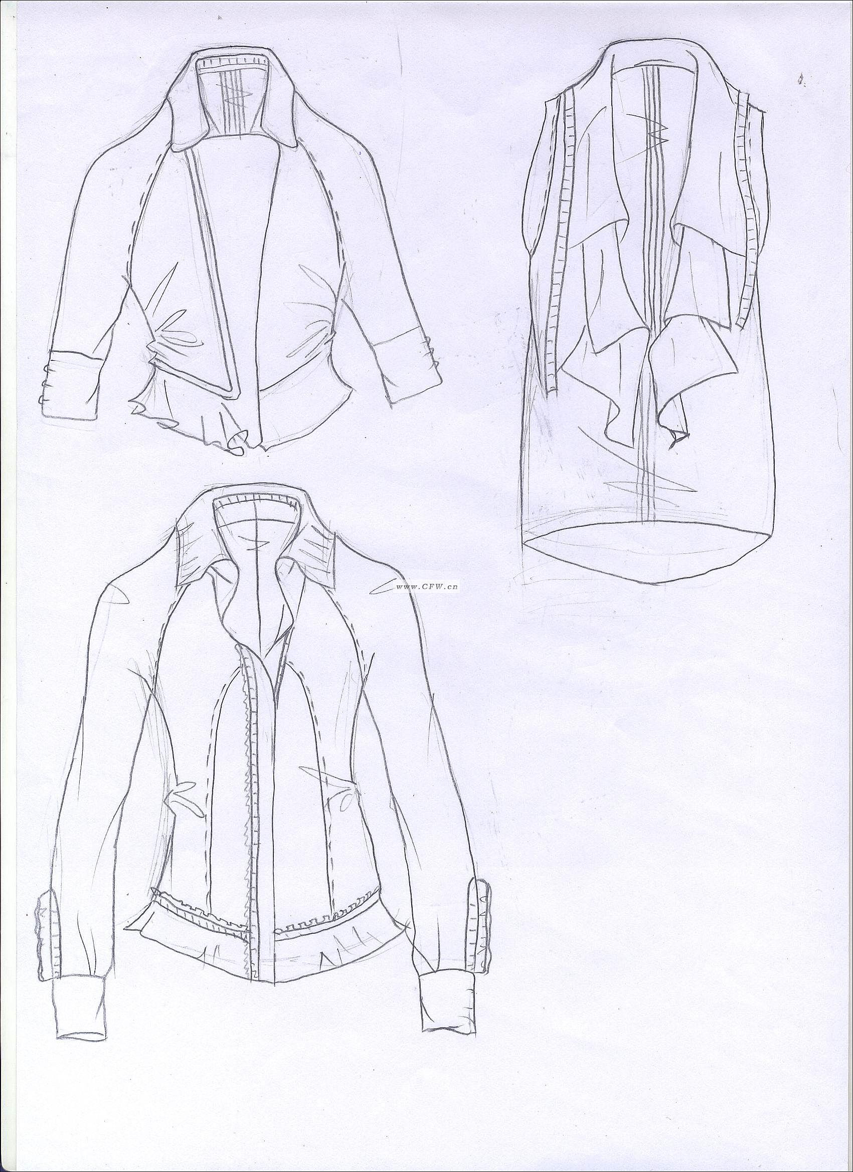女休闲装-女装设计-服装设计