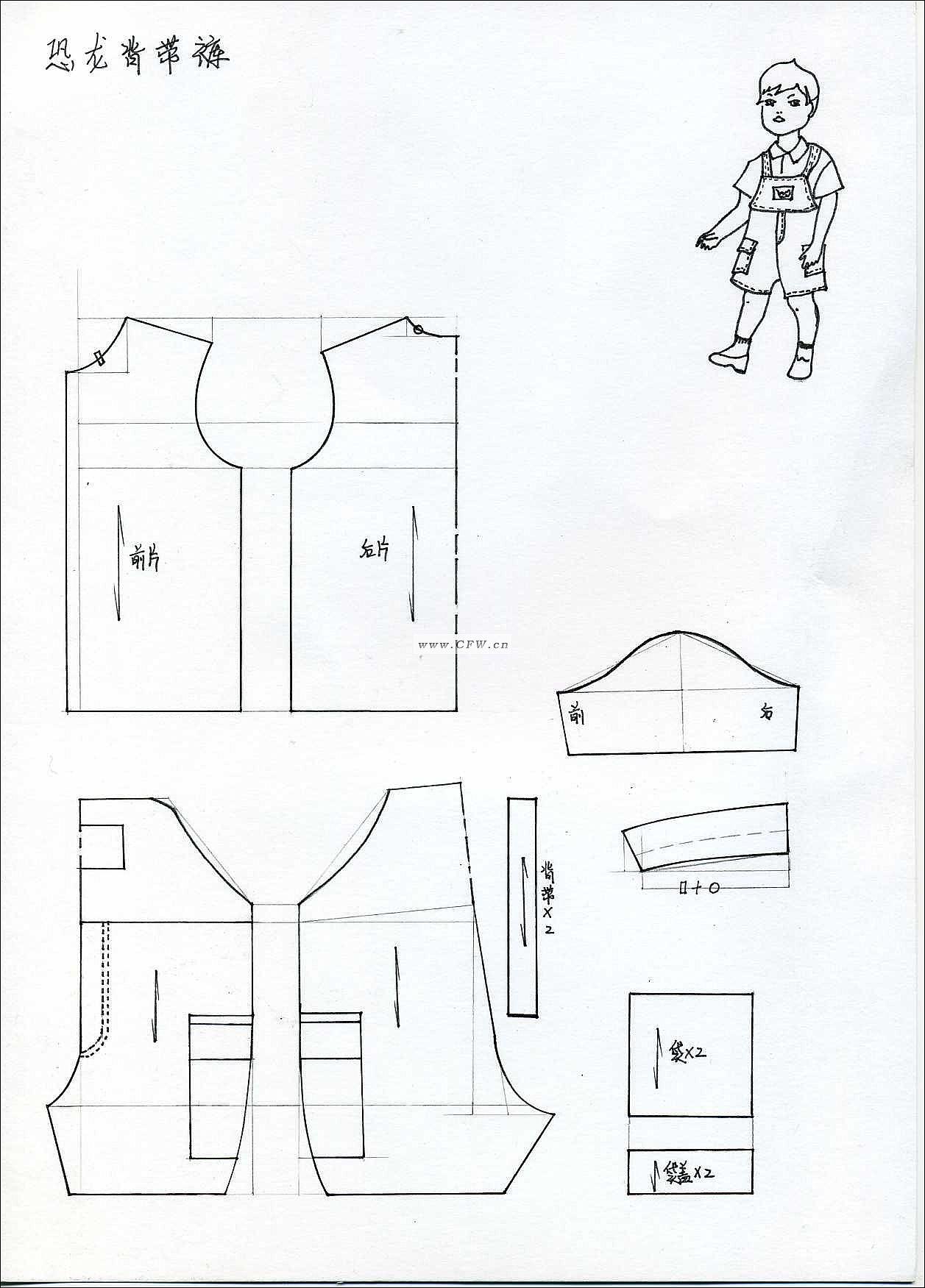 (1) 名称:结构图 归属:童装款式-休闲套装 分享: 格式:jpg 尺寸: 创意