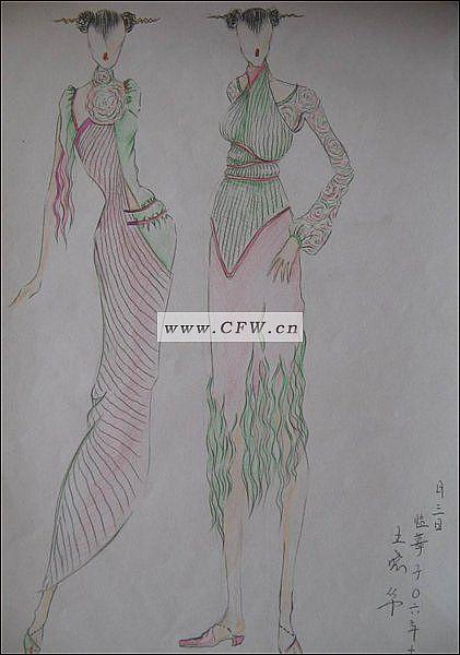 服装设计手稿图_服装设计手绘图_服装设计网