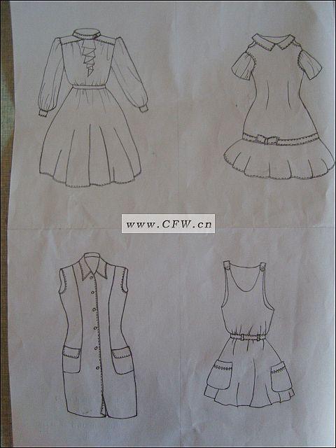古代裙子画法铅笔画