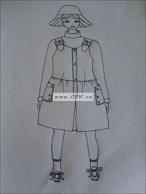 连衣裙-童装设计-服装设计