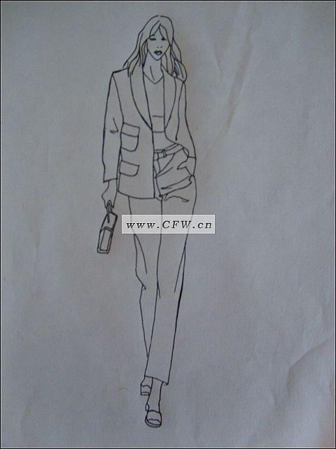 衬衫 裙子-女装设计-服装设计