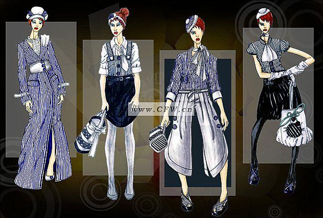 职业装-女装设计-服装设计