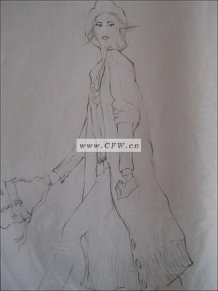 线稿-毛衫针织设计-服装设计