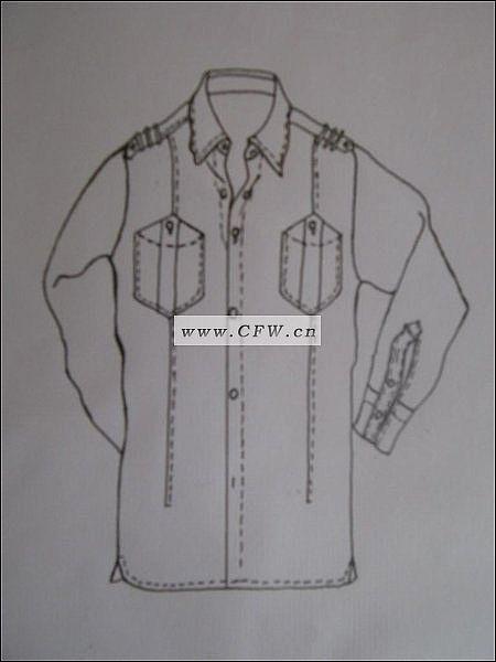 衬衫-男装设计-服装设计