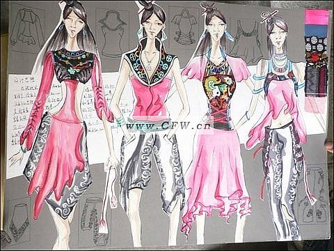 民族情-女装设计-服装设计