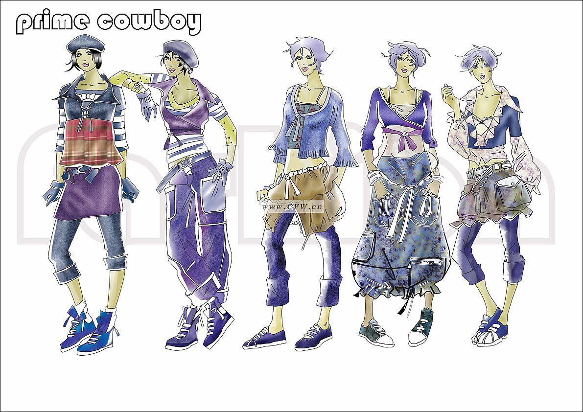 牛仔-女装设计-服装设计
