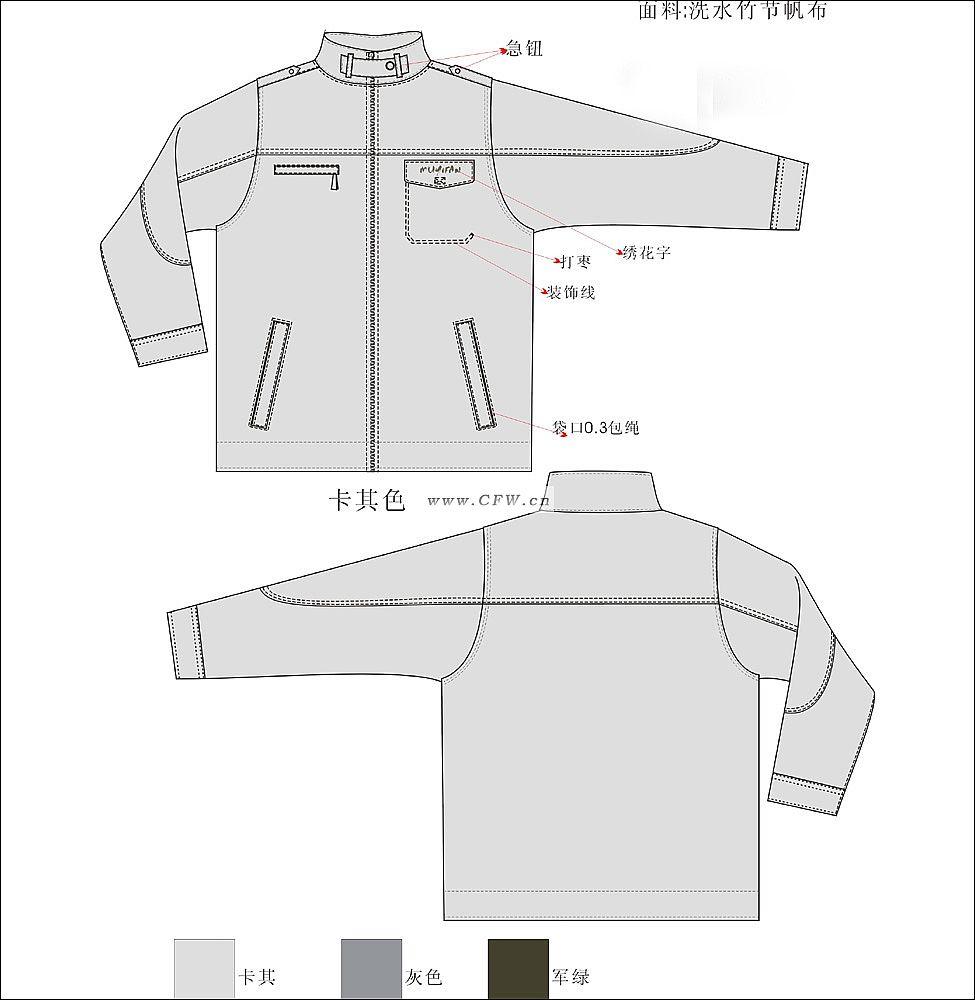 夹克-男装设计-服装设计