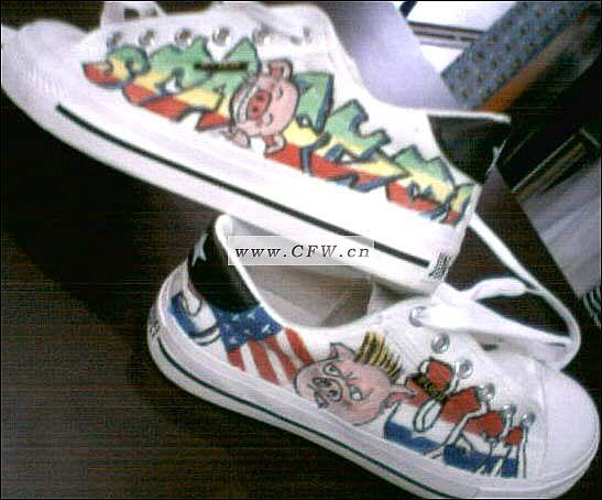 vansr手绘鞋