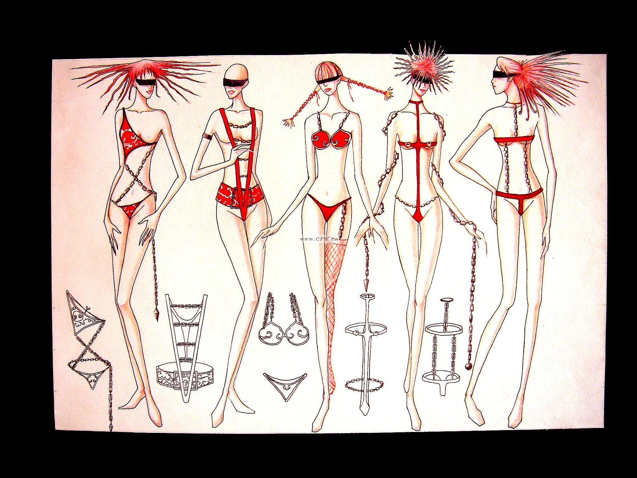 内衣套装设计-服装设计