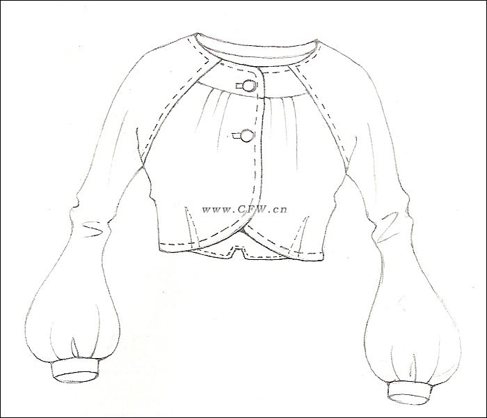 服装款式图-衣服款式图-cfw服装设计网