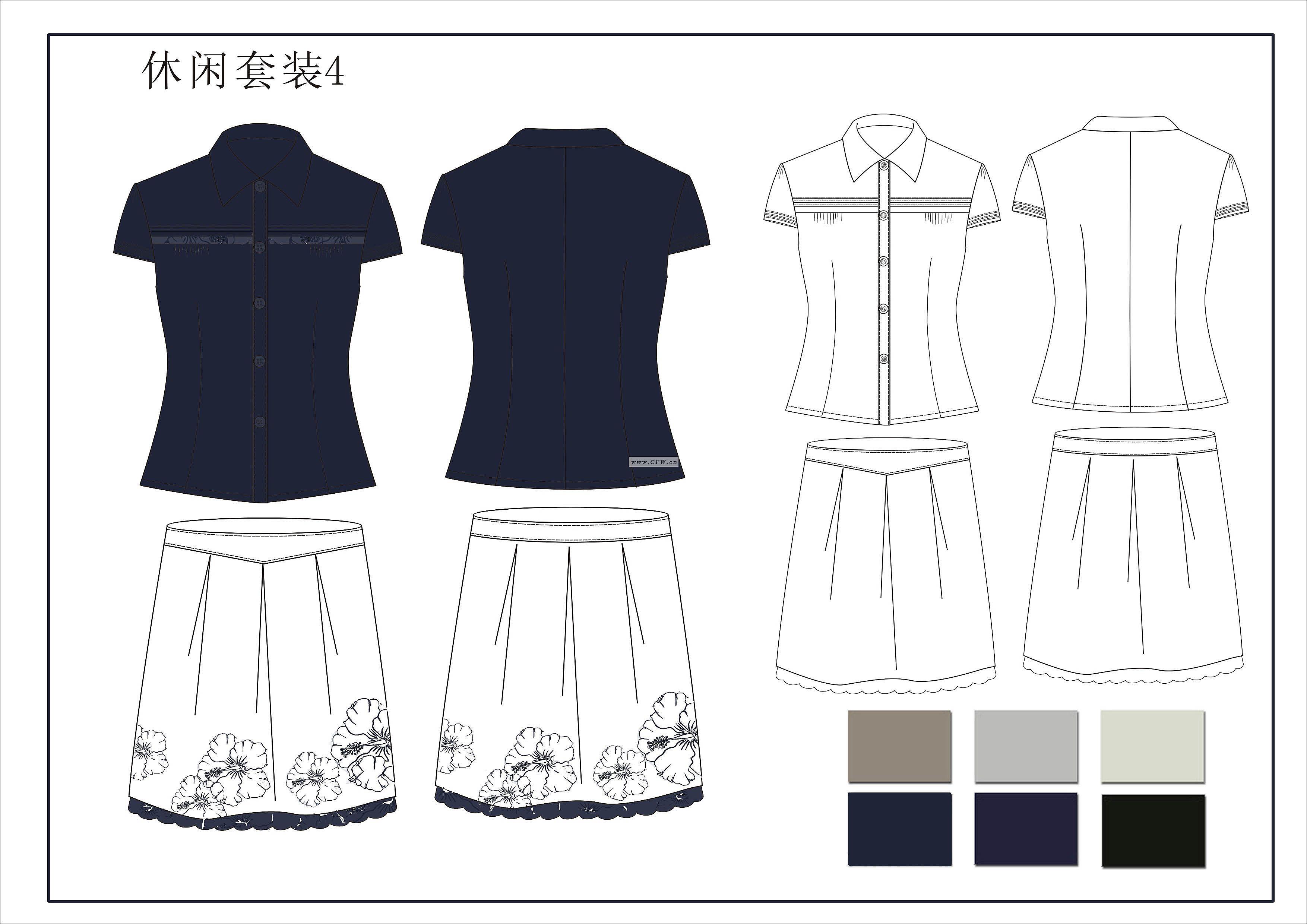 户外运动服装(校服设计图)