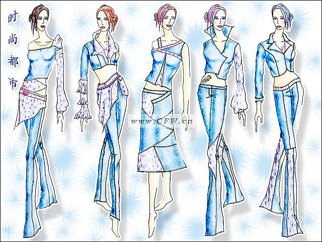 时尚牛仔-大赛作品设计-服装设计