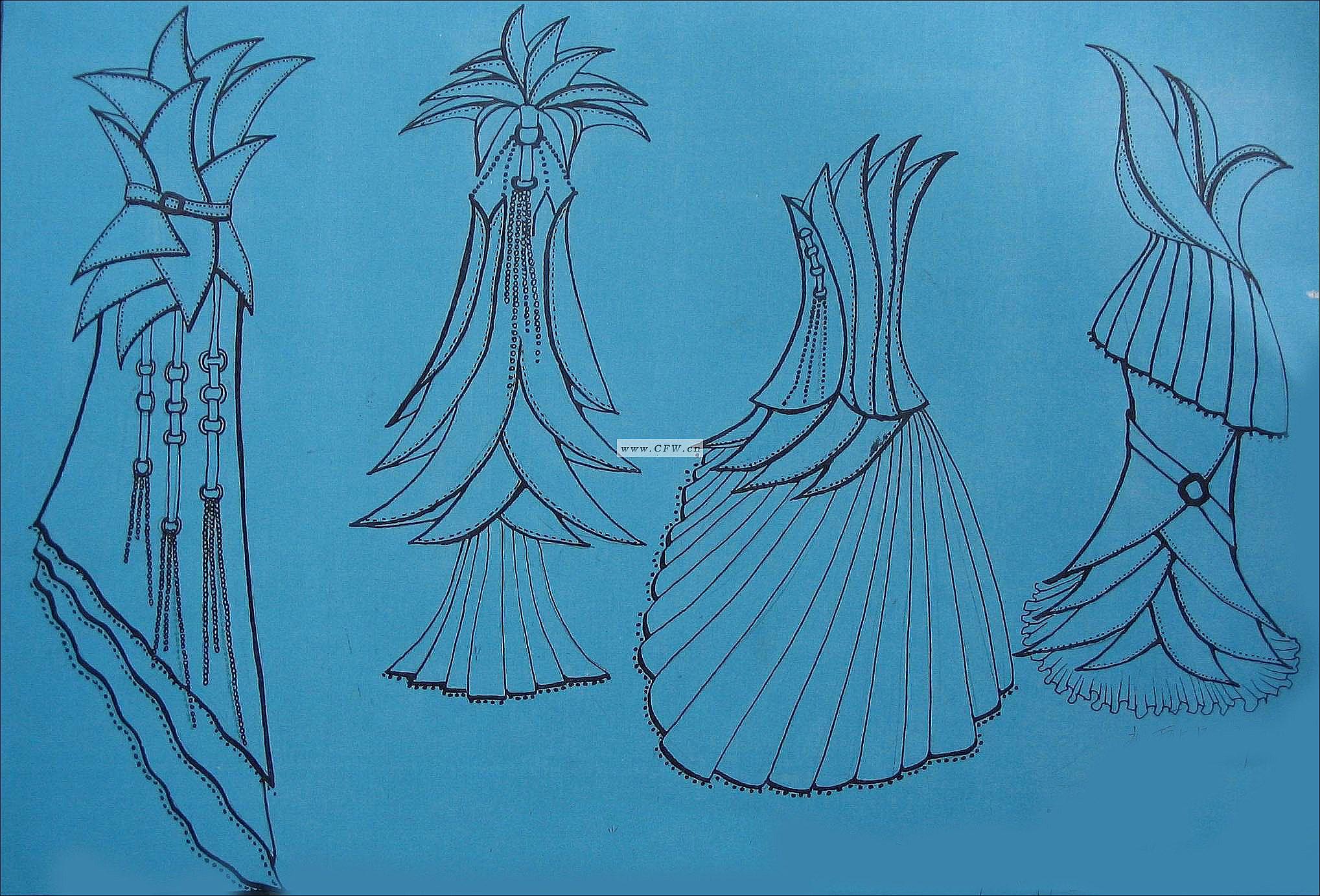 仿生花卉-图案设计设计-服装设计