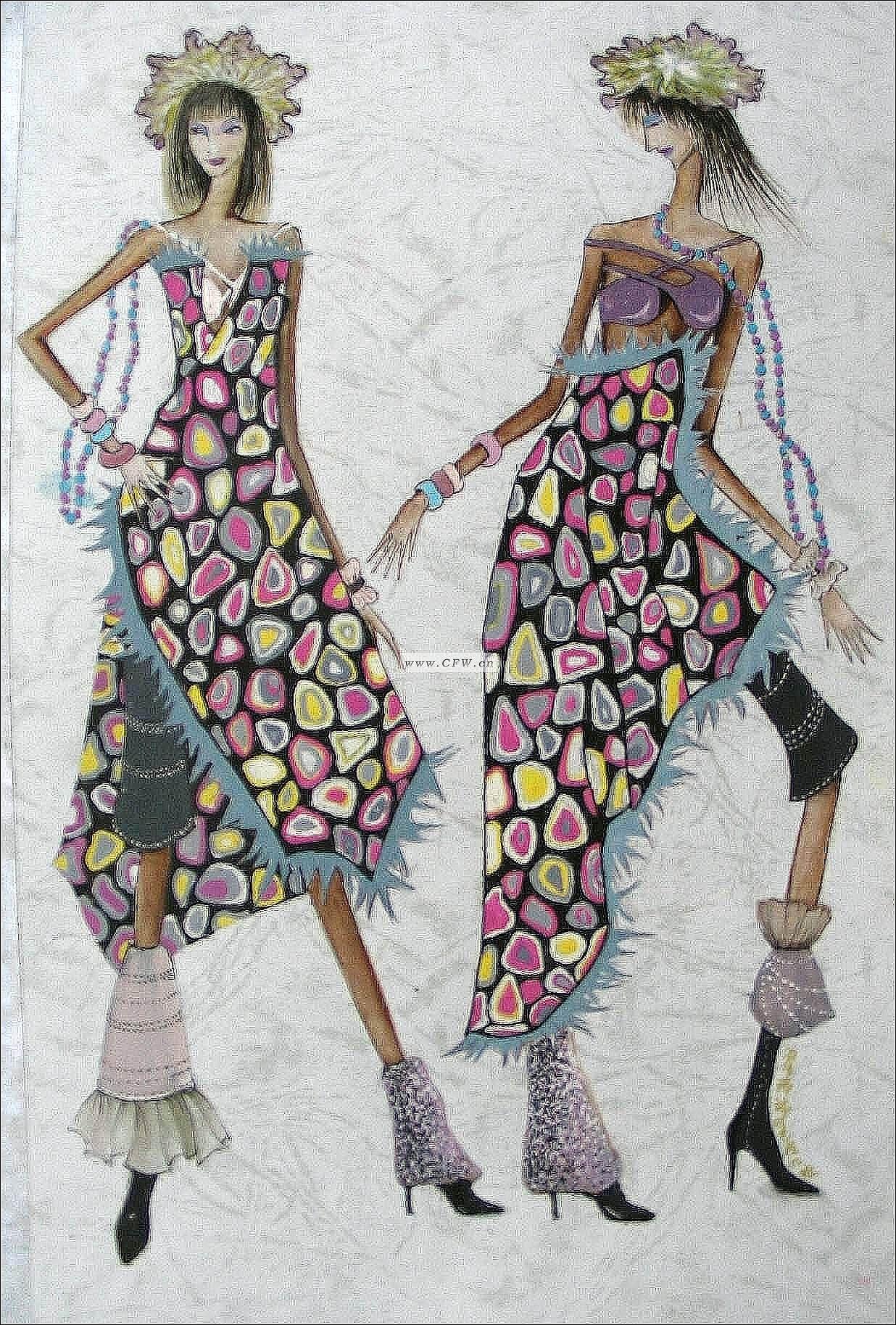 仿生花卉-图案设计设计-服装设计-服装设计网手机版