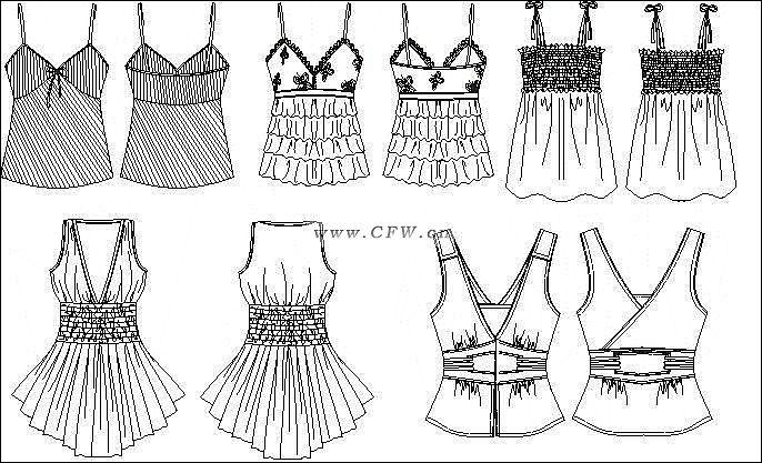 衬衫手稿-女装设计-服装设计-服装设计网手机版|触屏版
