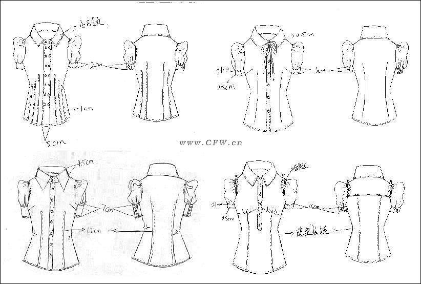 衬衫手稿-女装设计-服装设计图片
