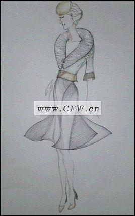 我的手绘图-女装设计-服装设计