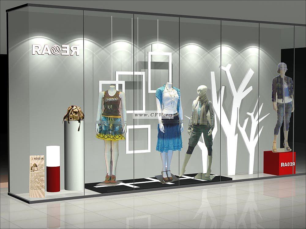 橱窗-橱窗陈列设计-服装设计