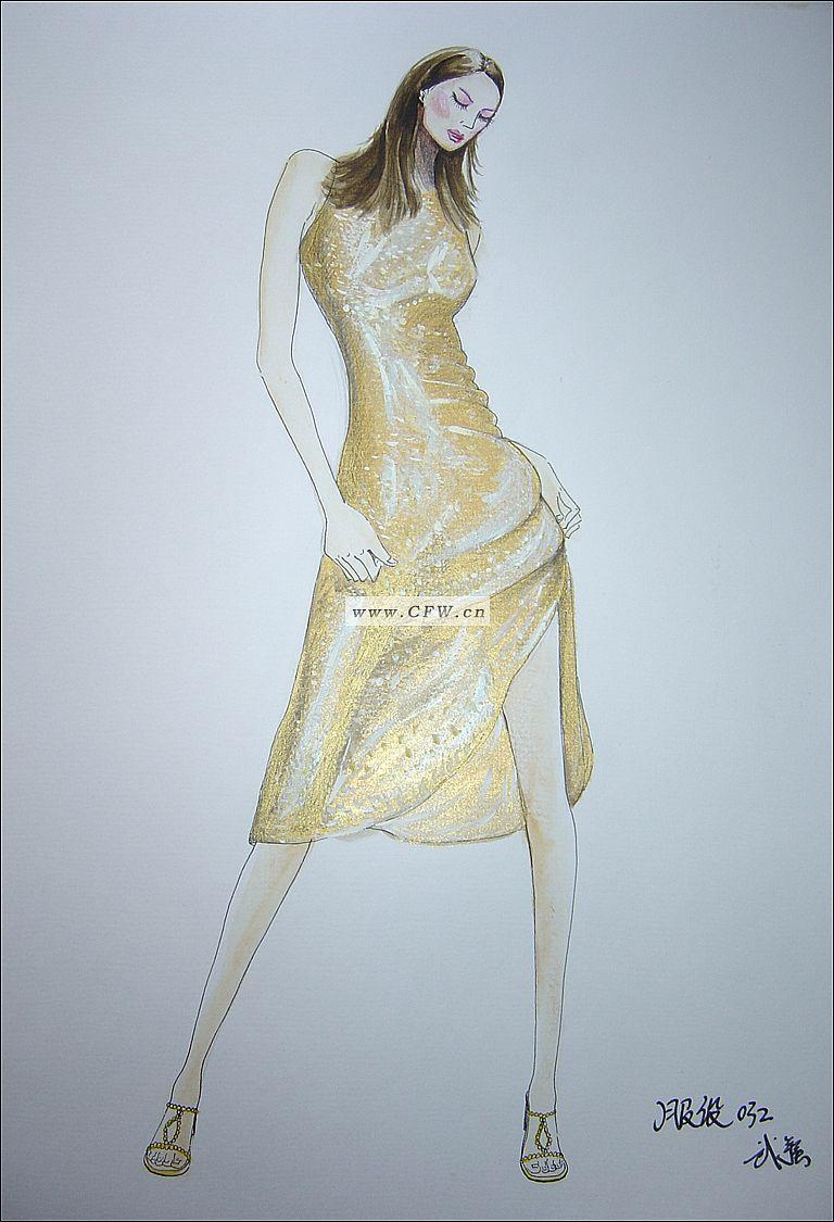 时装画4-女装设计-服装设计