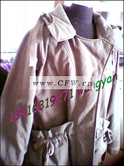 女装 休闲 棉服作品-女装 休闲 棉服款式图