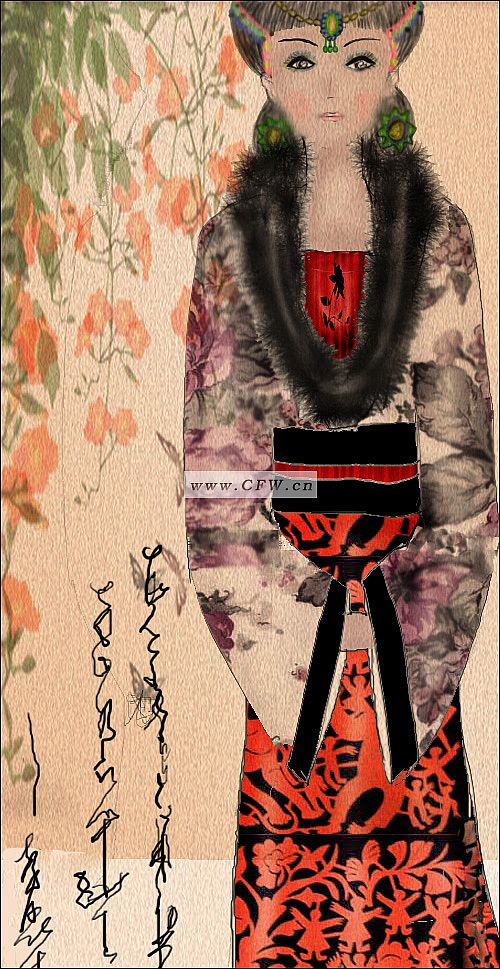 扎染装饰画-图案设计设计-服装设计-服装设计网手机版图片