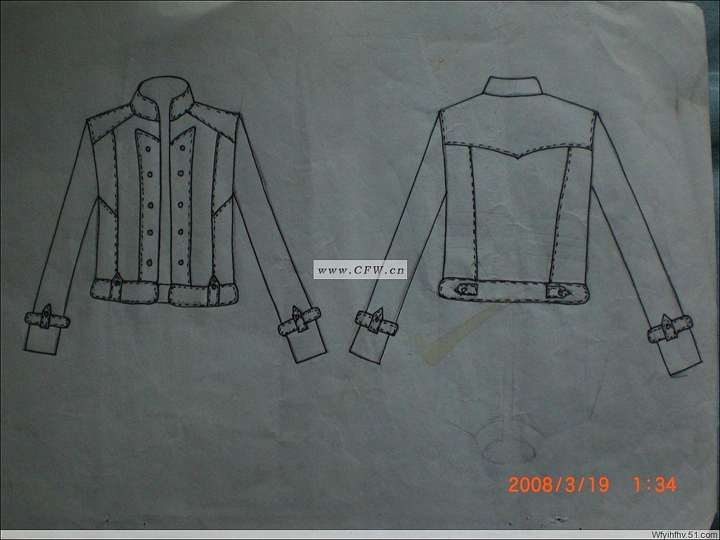 服装款式图-男装设计-服装设计