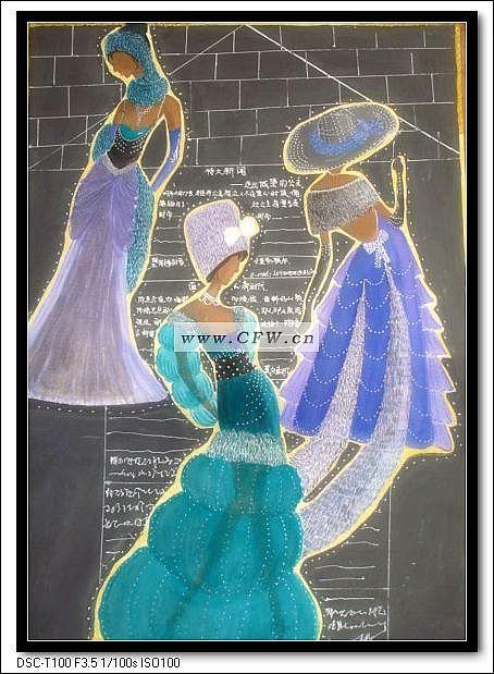 扎染装饰画-图案设计设计-服装设计-服装设计网手机