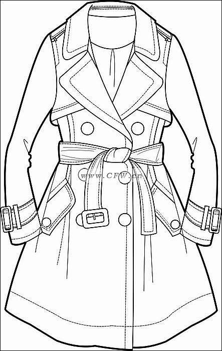 风衣-女装设计-服装设计