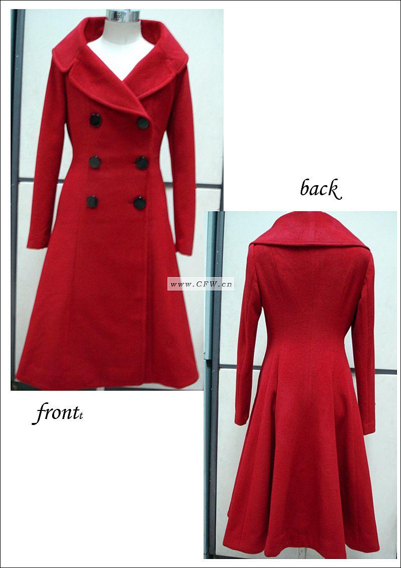 七八十年代的女式服装_女式风衣