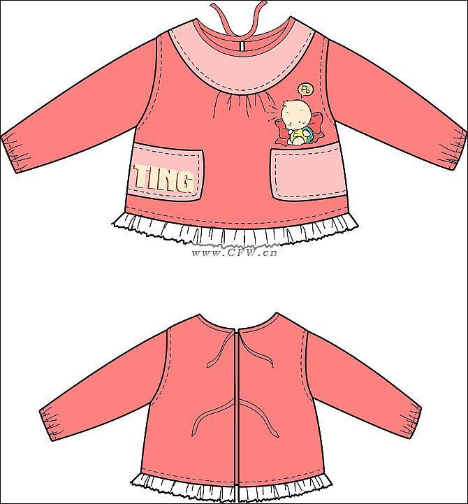 儿童罩衣1-童装设计-服装设计