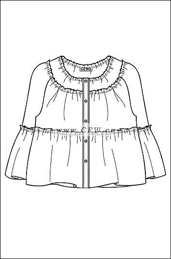 女衬衫3作品-女衬衫3款式图