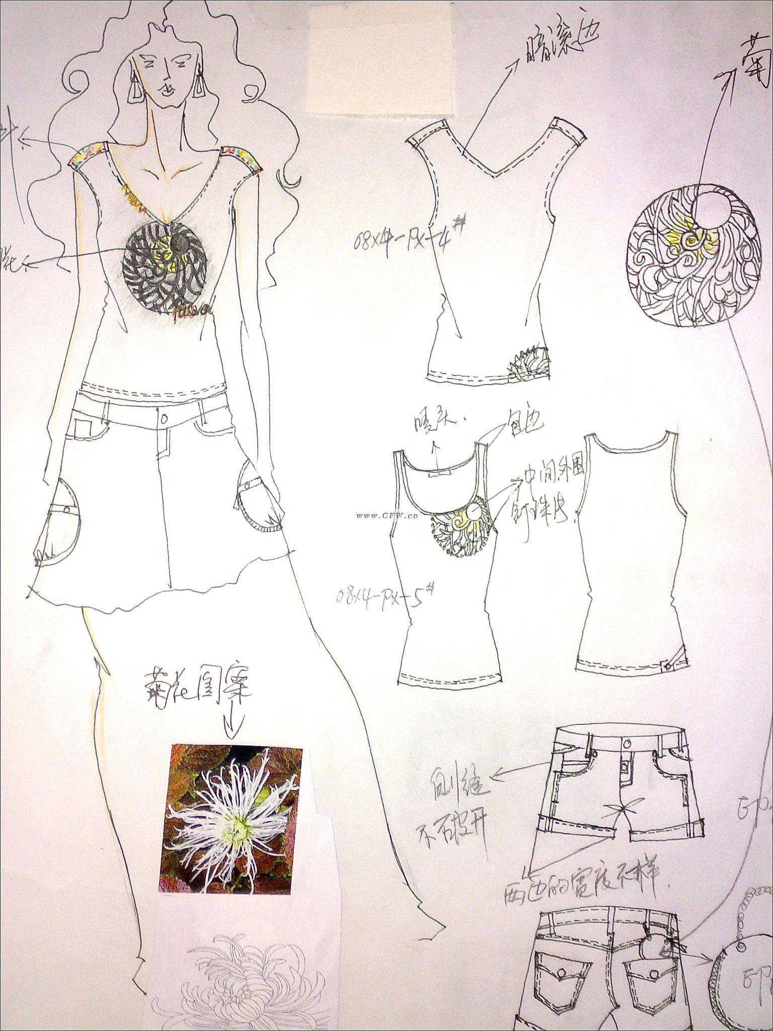 系列时装画手绘图_女装手绘1作品 女装手绘1款式图