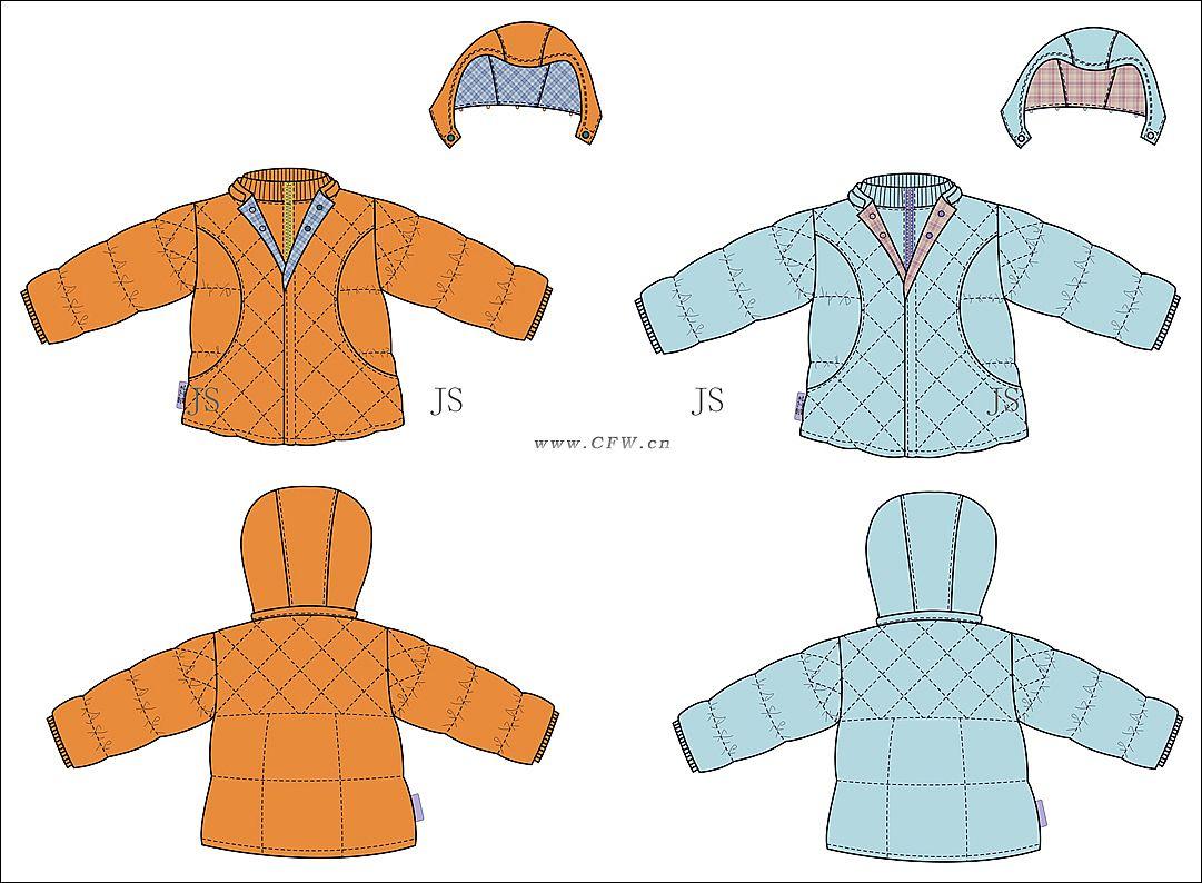 羽绒服-童装设计-服装设计