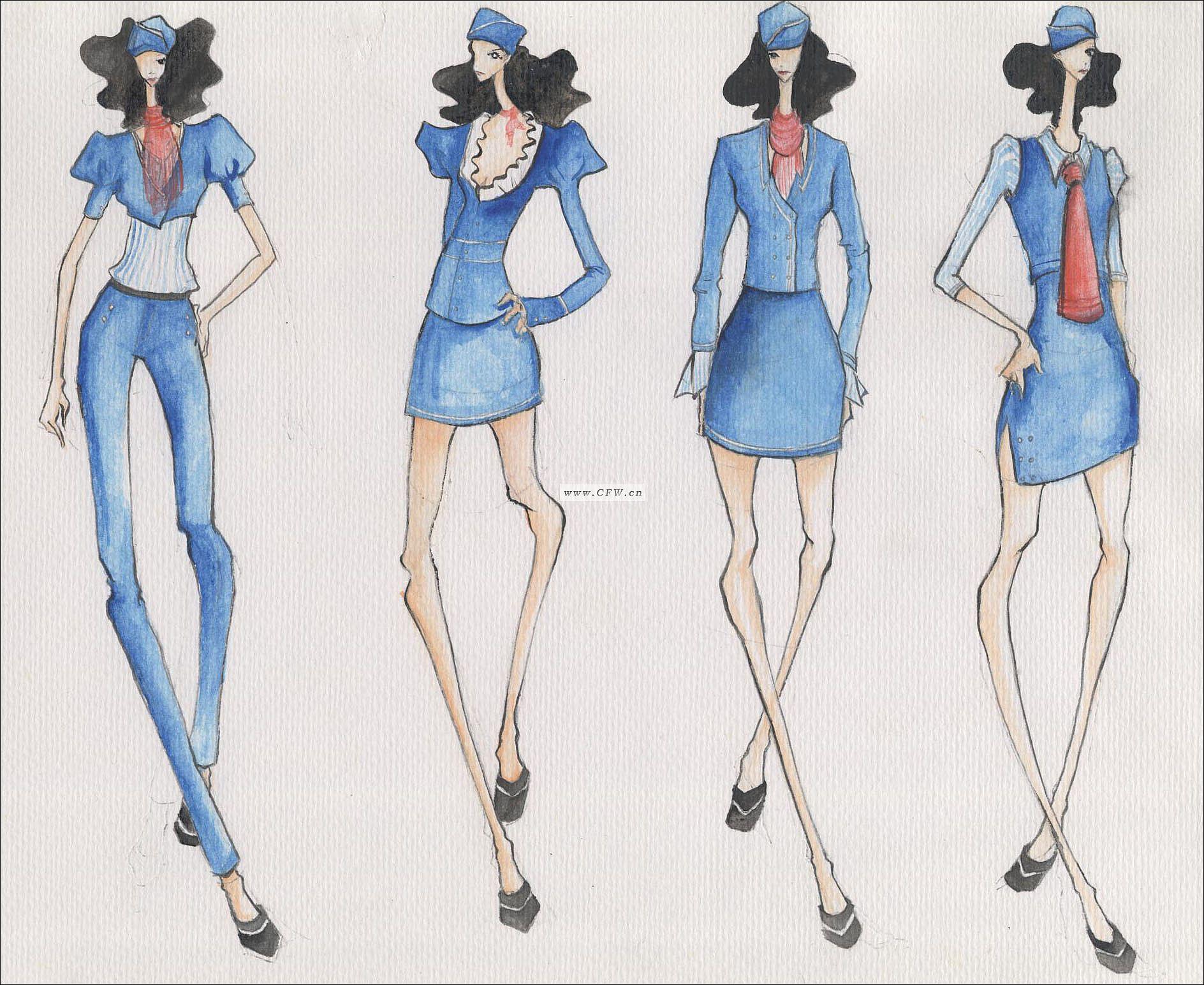 画裙子设计图 手绘裙子款式设计图_裙子设计图_简
