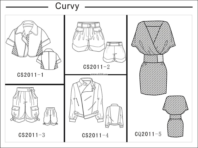 女装设计-女装设计图-女装款式效果图-女装设计师手稿作品-服装设计