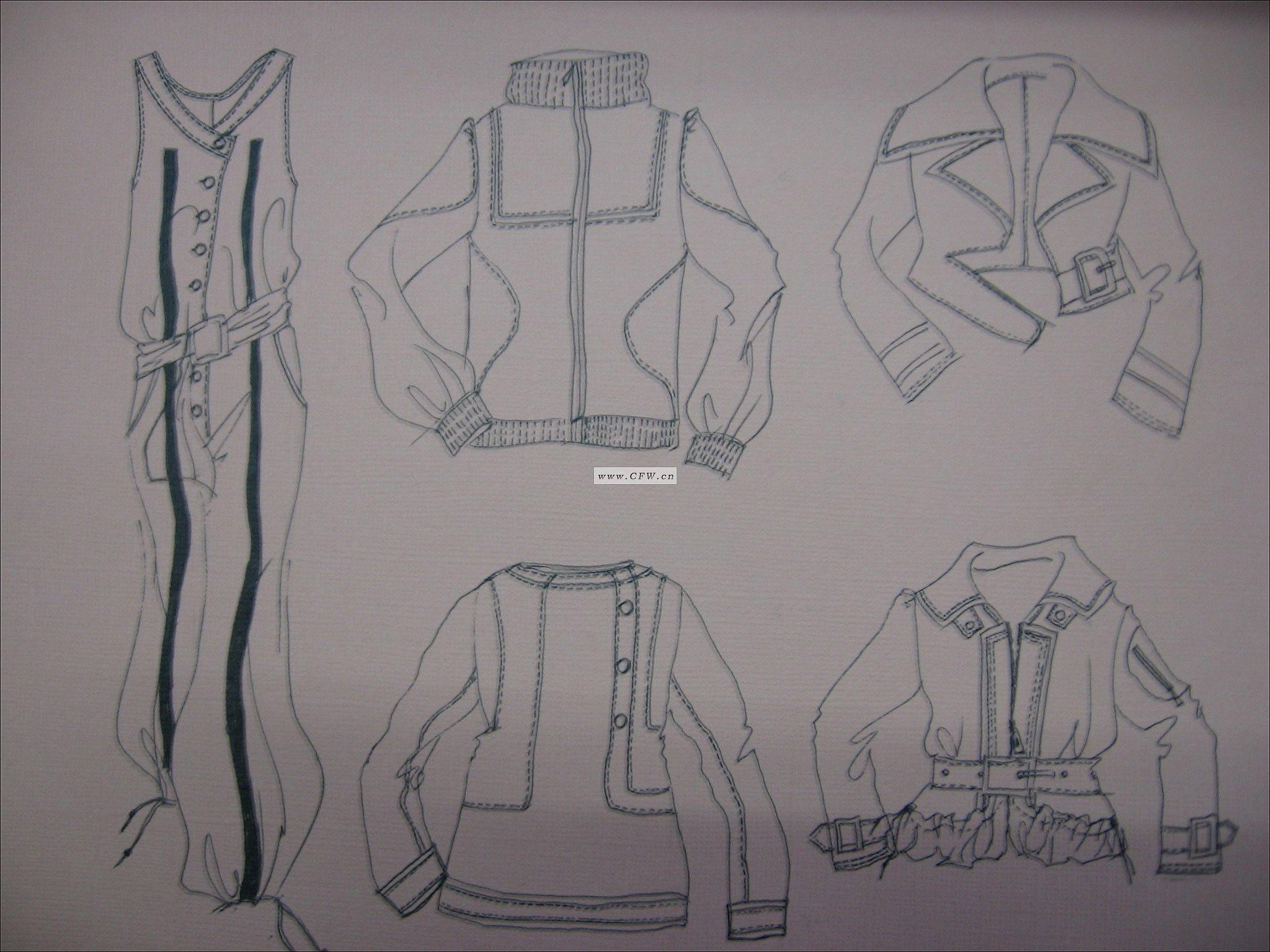 女装手绘效果图(职业装) 职业服装设计 服装设计