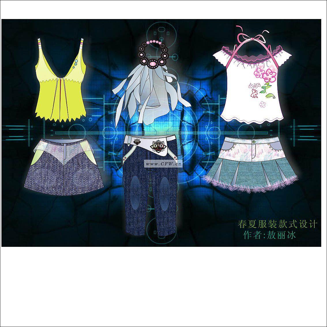 春夏女装设计款式图
